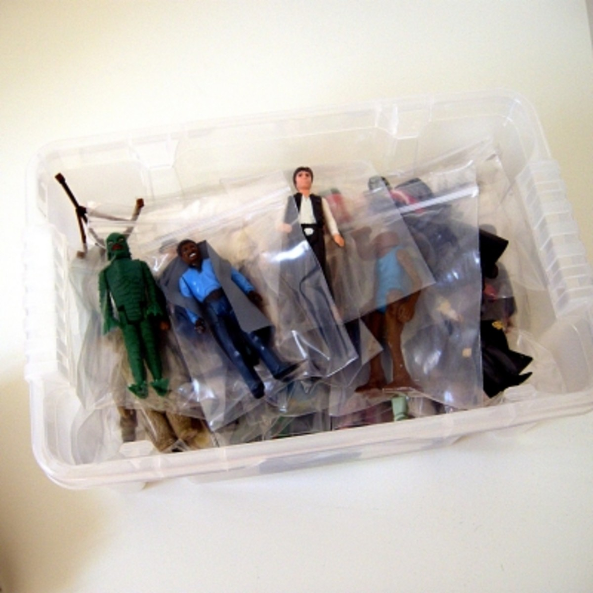 Polypropylene storage boxes are ideal for stowing away your action figure collection