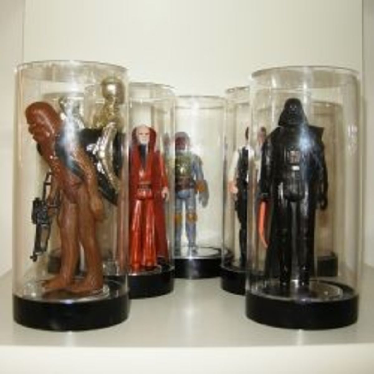 The storage and display of vintage action figures