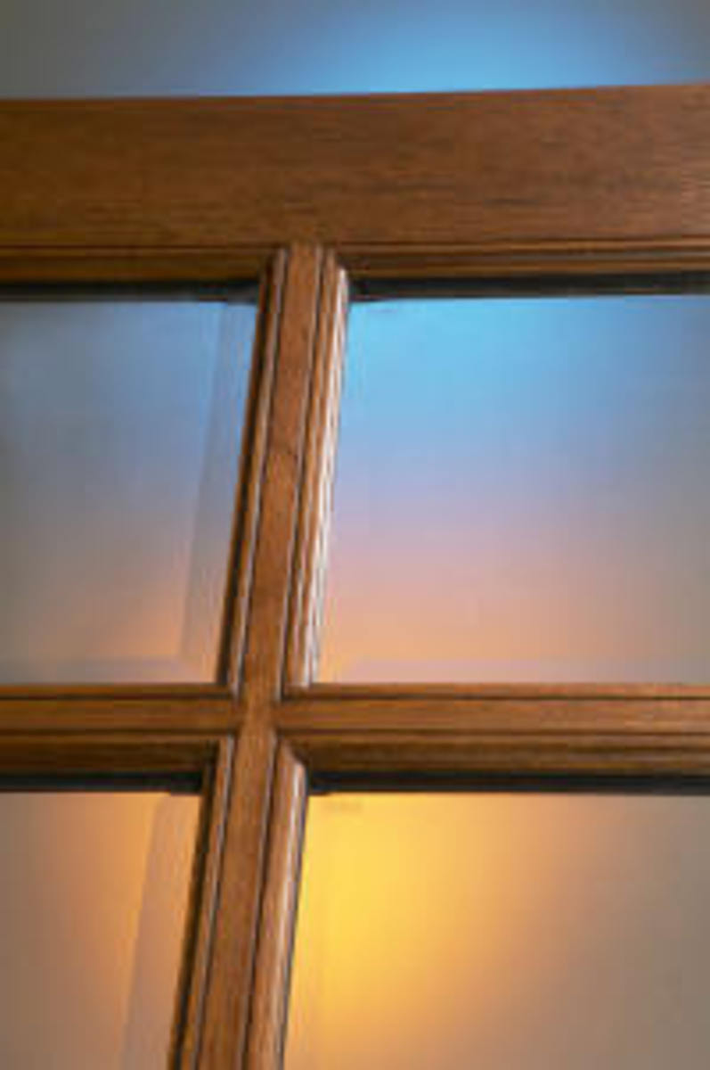 """Beveled Glass clear Tempered with 1 1/4"""" beveled edge insulated true divided lights"""