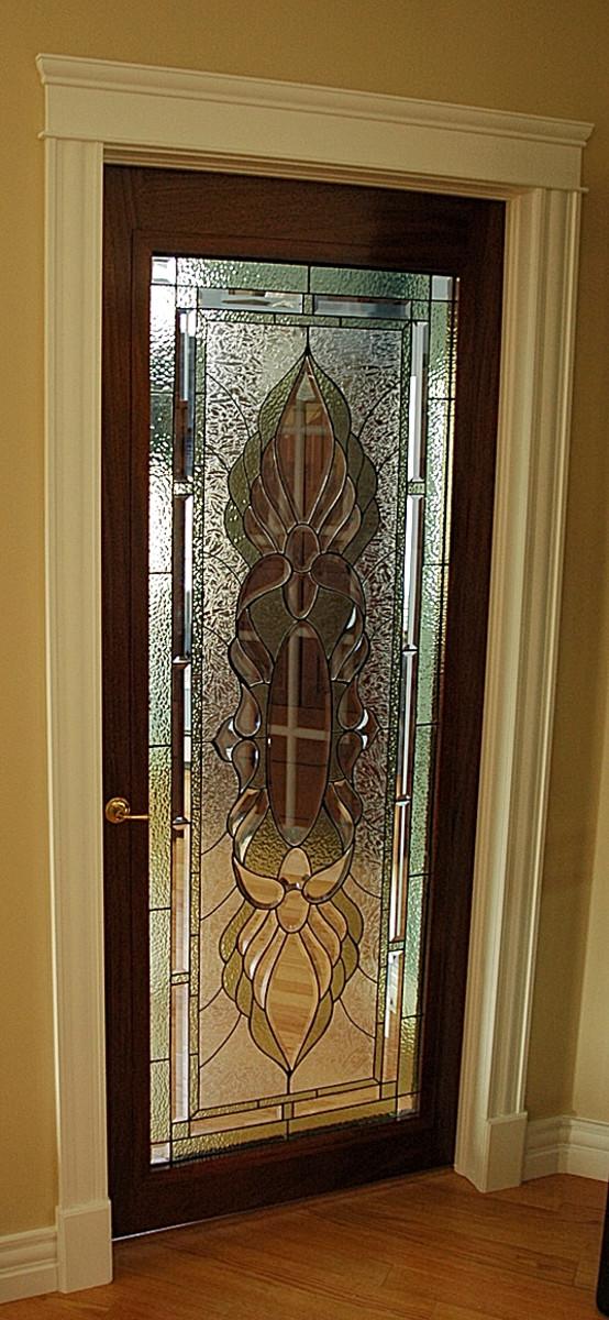 Traditional Leaded Glass Exterior Door