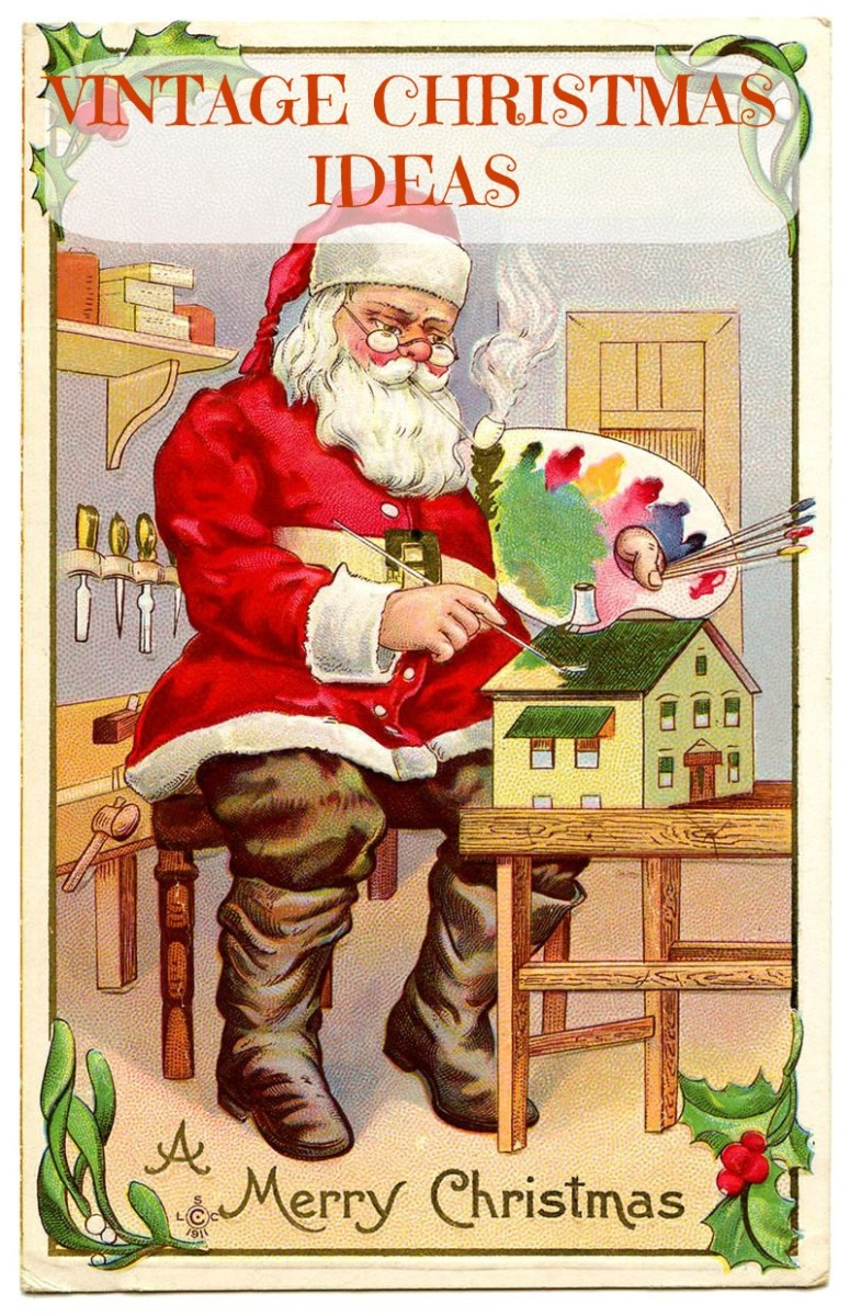 Free Vintage Santa Printout. Vintage Christmas ideas, tips and gifts.