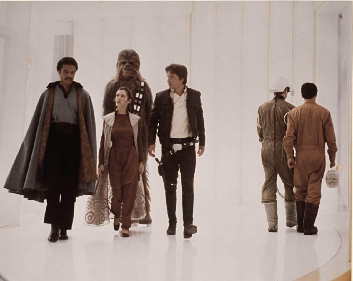 Leia, Han Solo, Chewbacca, Lando Calrissian