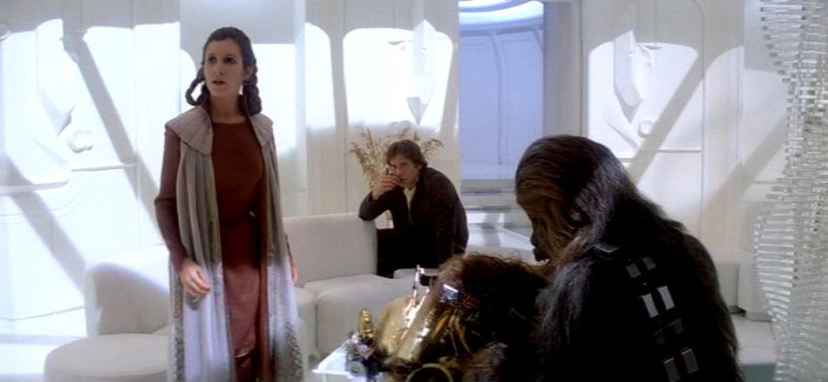Leia, Han, Chewbacca on Bespin