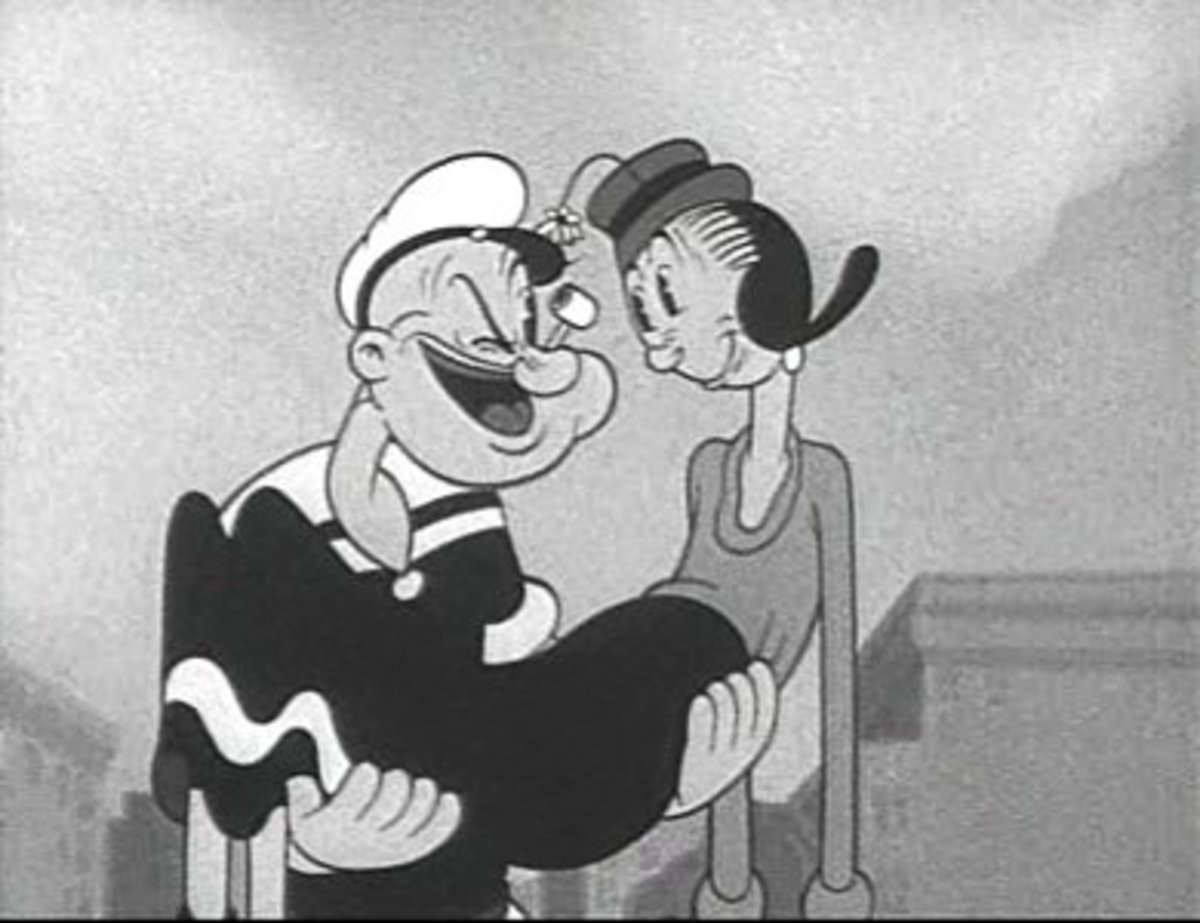 "Popeye and Olive Oyl in ""A Date to Skate"" (1938)"