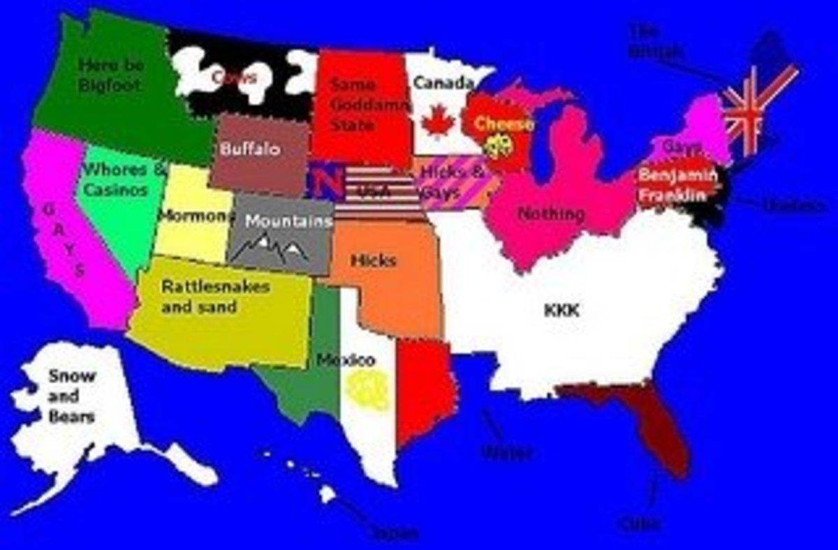 Redneck USA Map