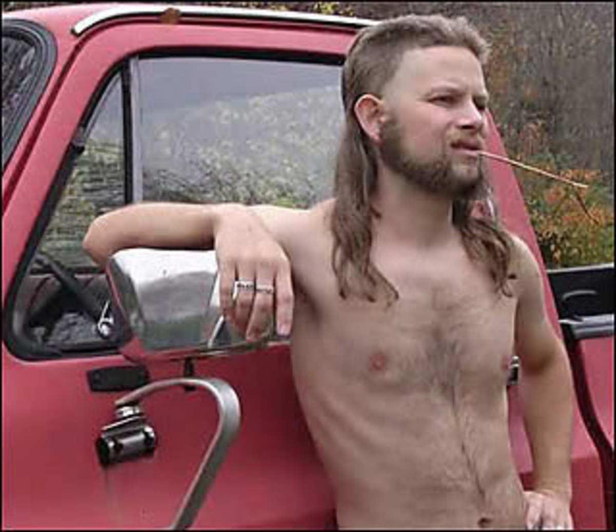 redneck mullet hair