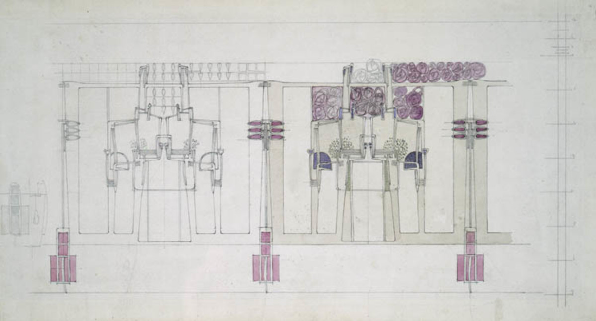 Mackintosh was a genius illustrator as showcased by his rendering for the Willow Tearooms.
