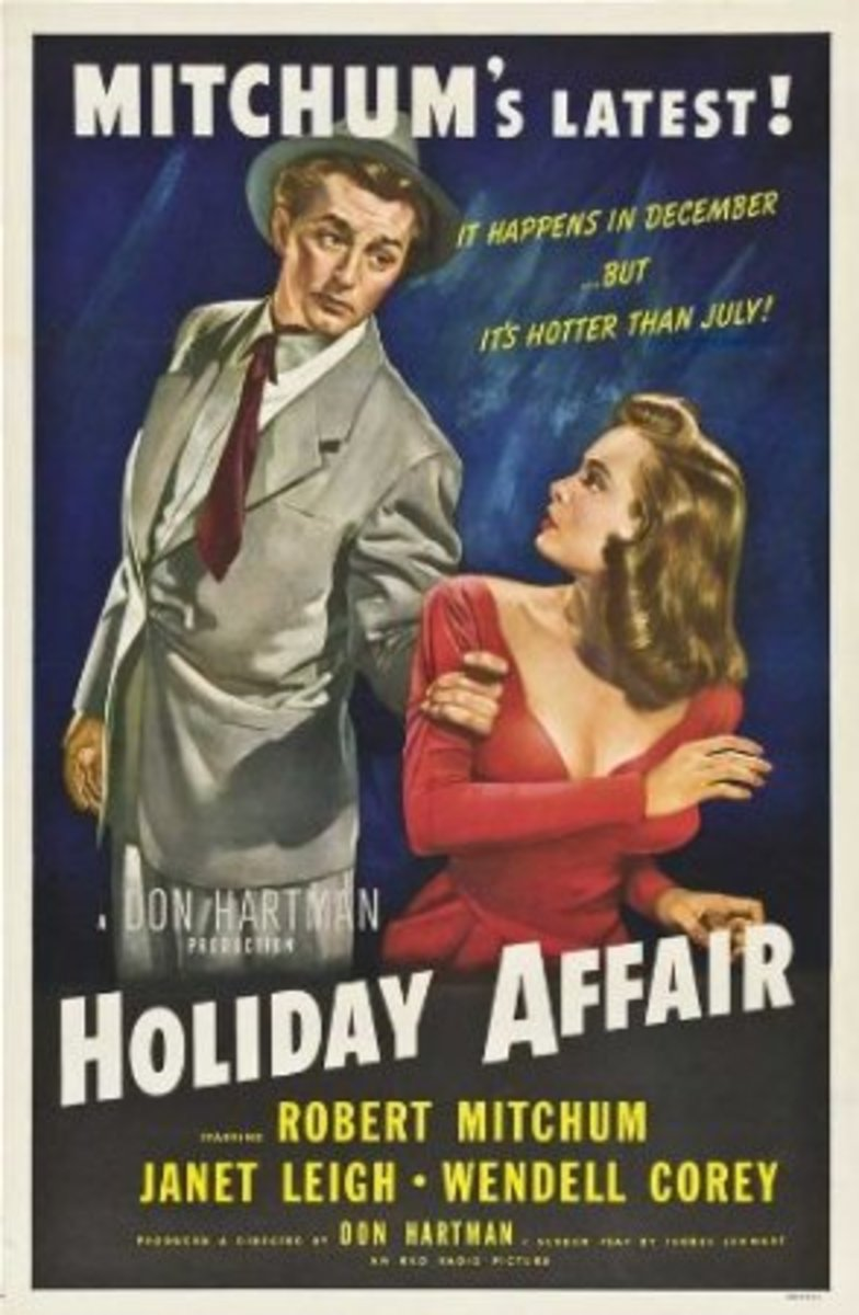 """Holiday Affair"" reproduction poster print."
