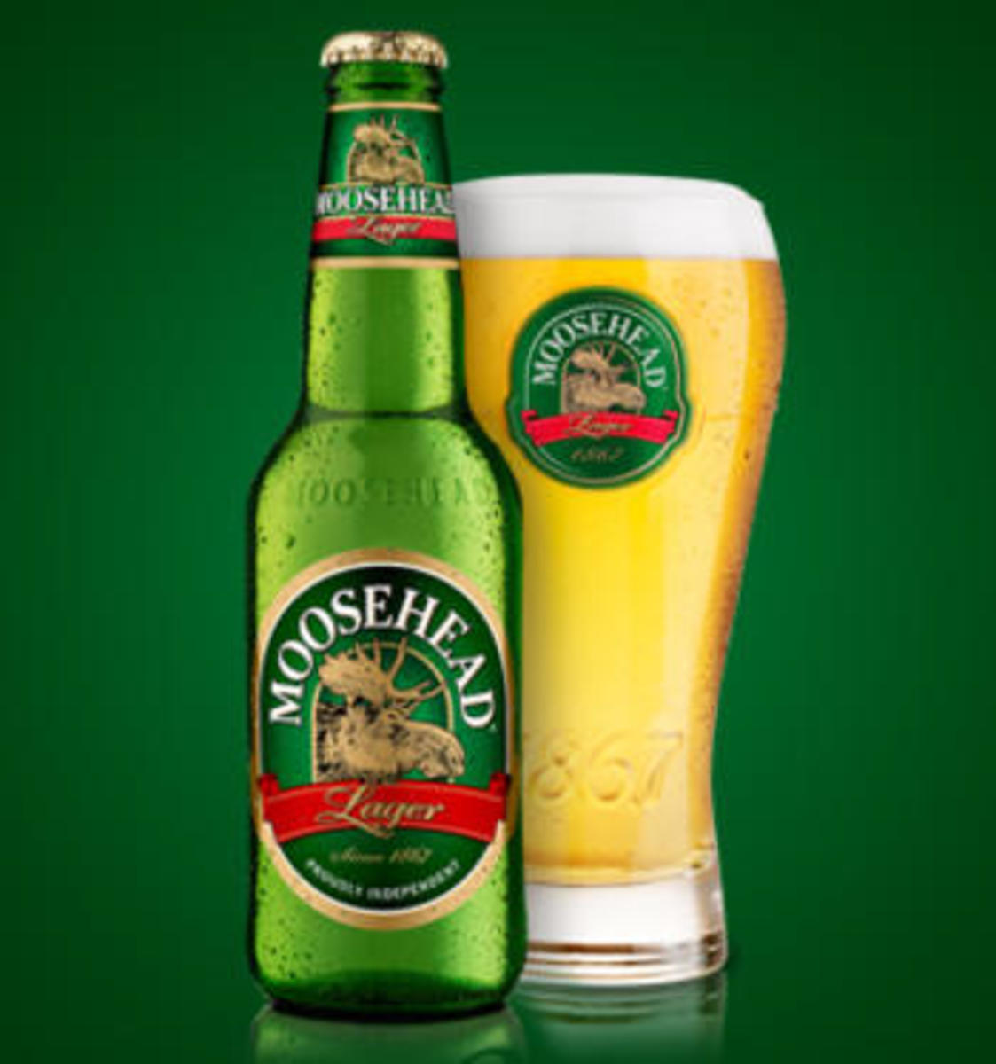 Nothing better on a hot day than a chilled glass of Moosehead Lager