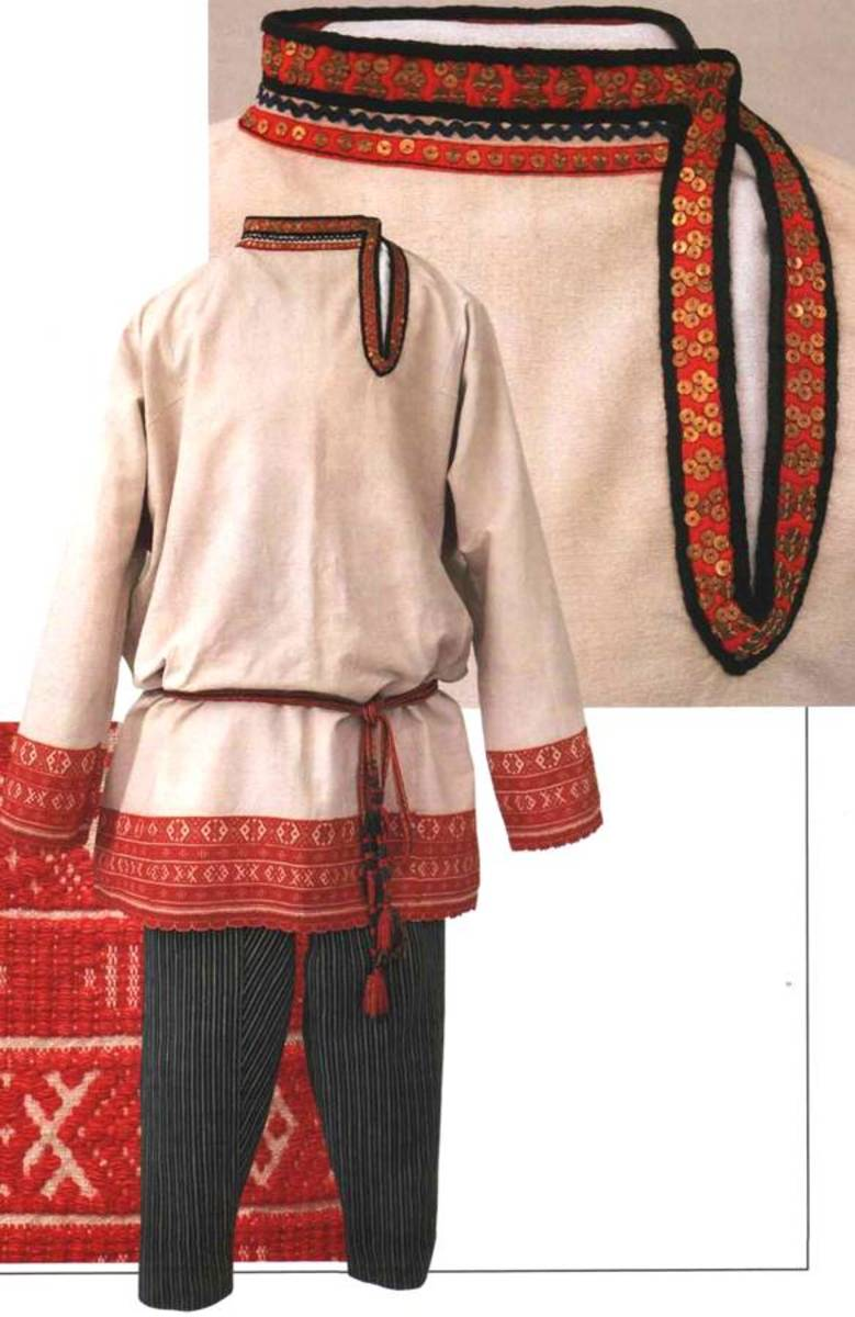 Men's wedding costume. Beginning of XX c. Ryazan' region