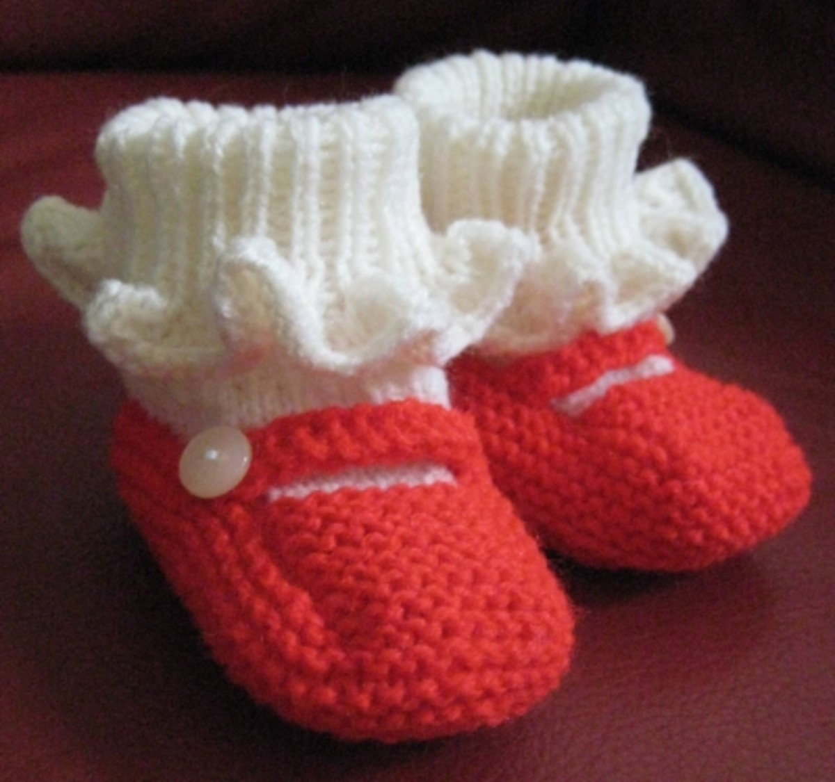 Red Mary Jane shoes/booties.