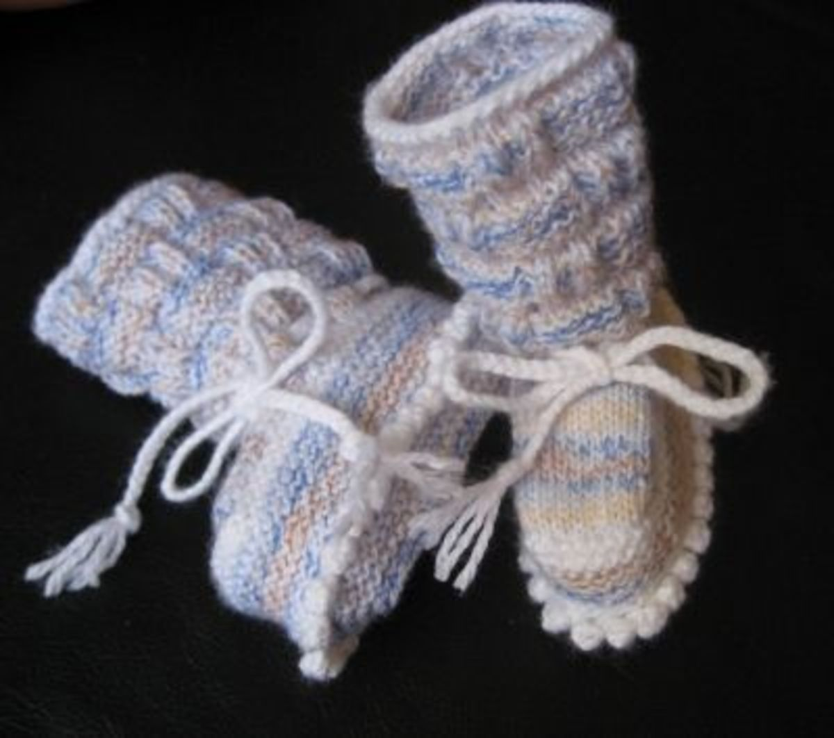 Tall baby booties