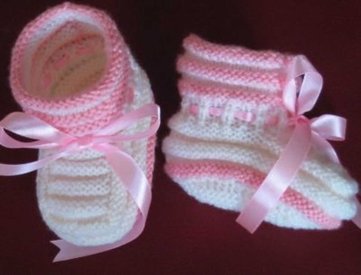 White & Pink booties