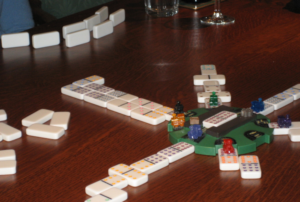 If a player can't go, they must draw a domino from the pile. At that point, other players can play on their train.