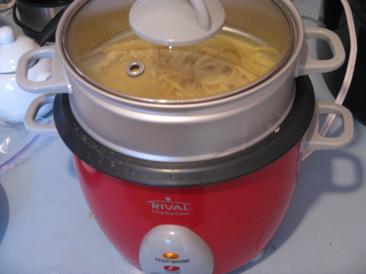 Keep the pasta warm while heating the cream.