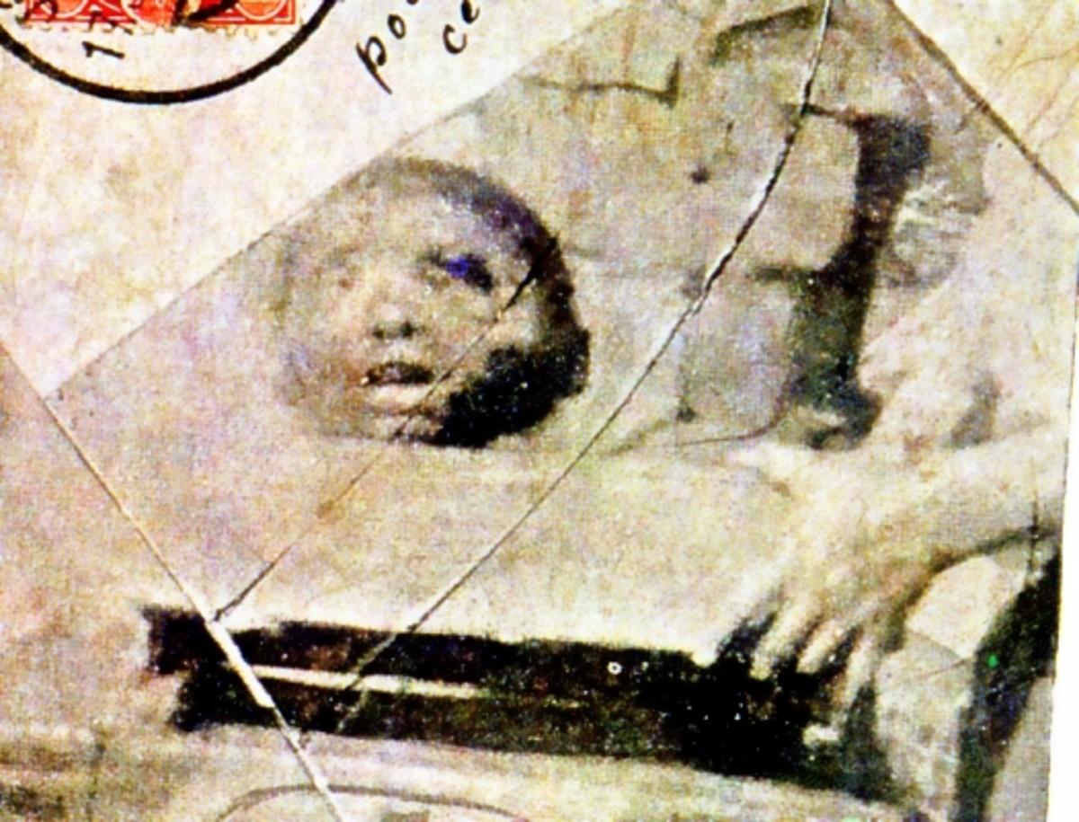 Bambatha's head shown on a contemporary postcard.