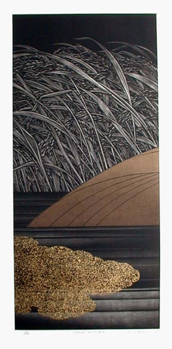 Silence #2 - Woodblock by Hamanishi