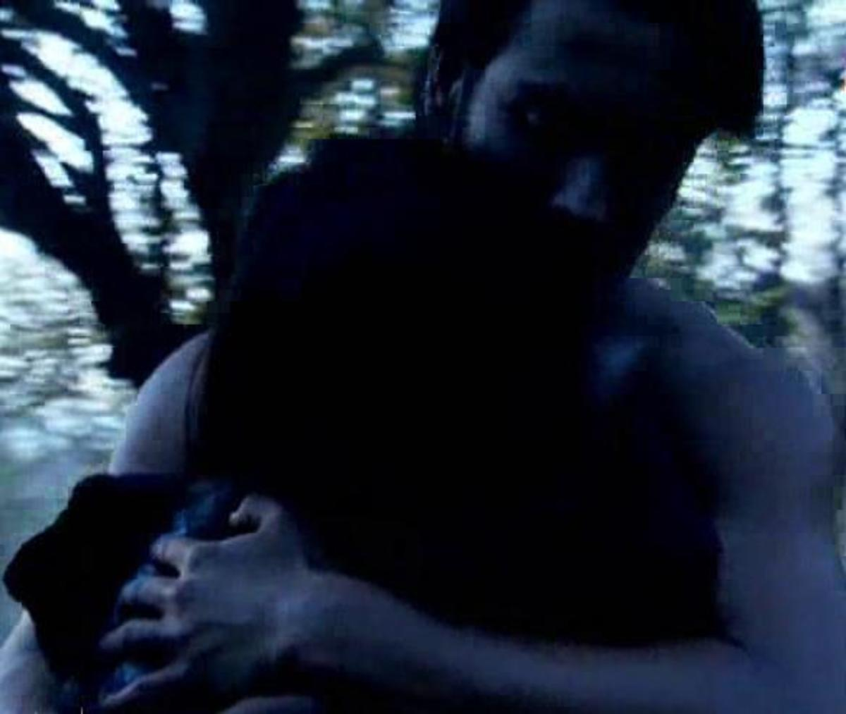Abhay hugging Piya shirtless to save her life
