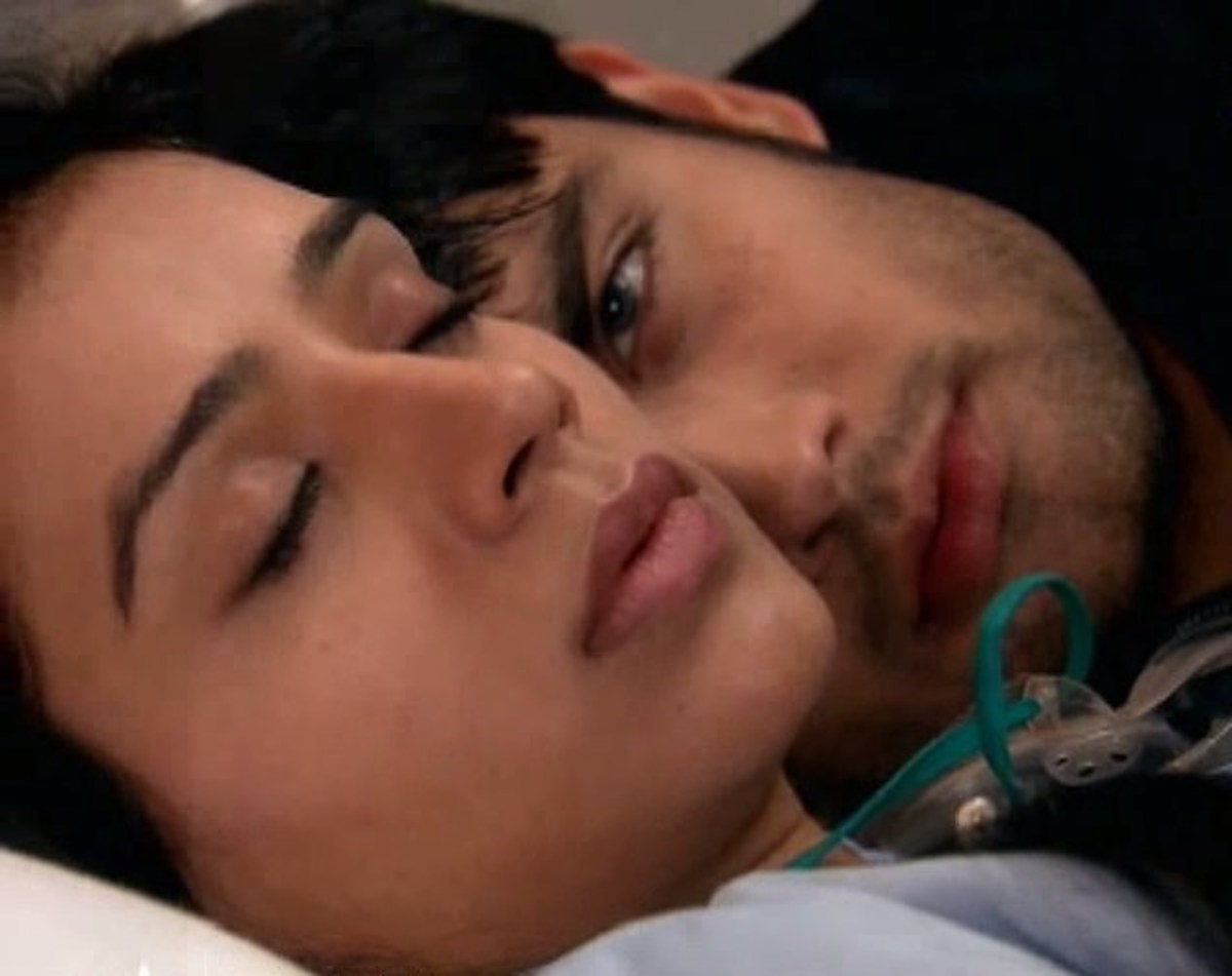 Abhay and Piya in the Hospital Bed