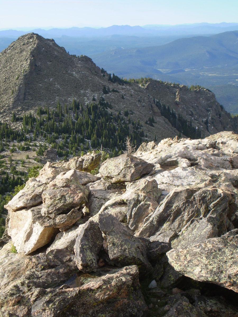Twin Sisters Peak summit view.
