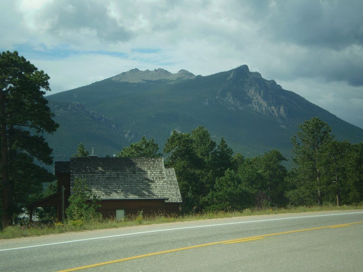 Twin Sisters Peaks from Highway 7.