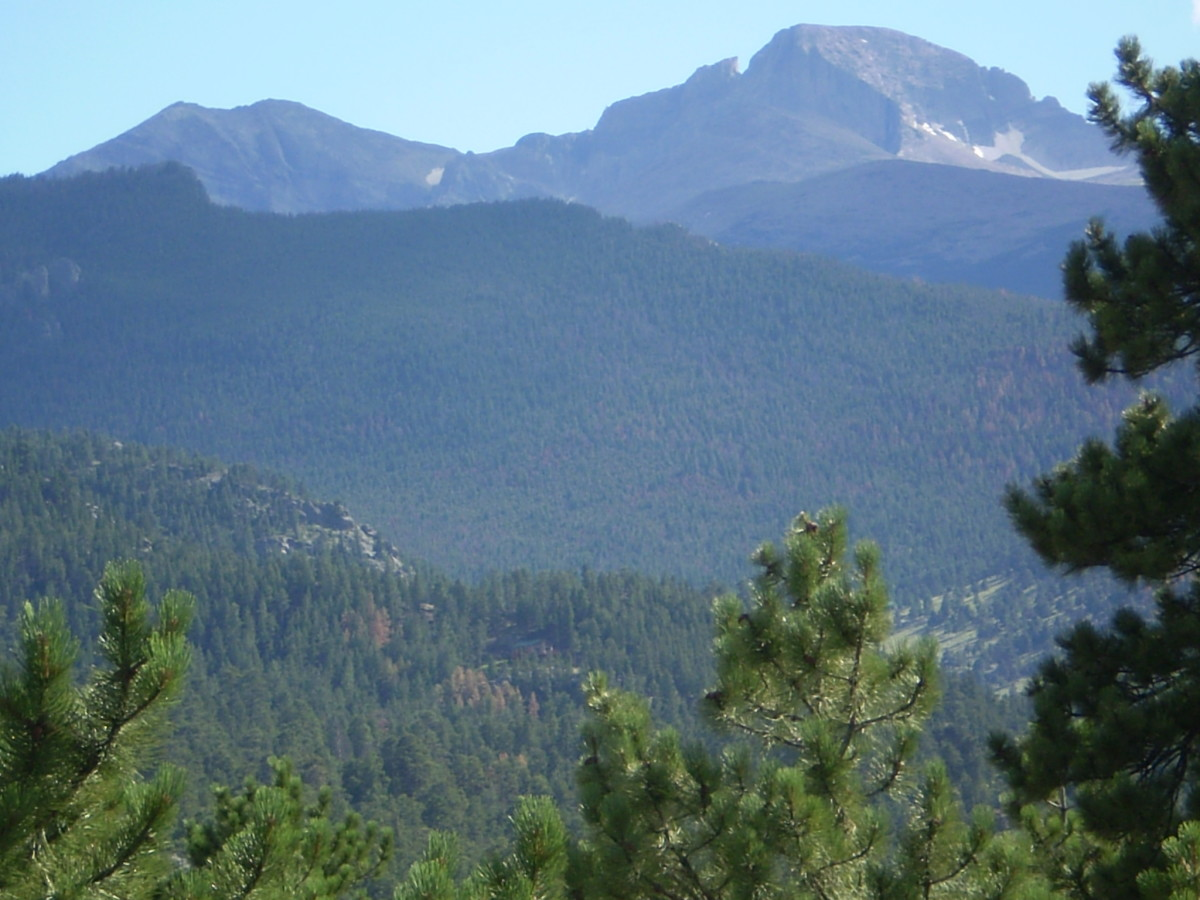 Longs Peak from Estes Park.