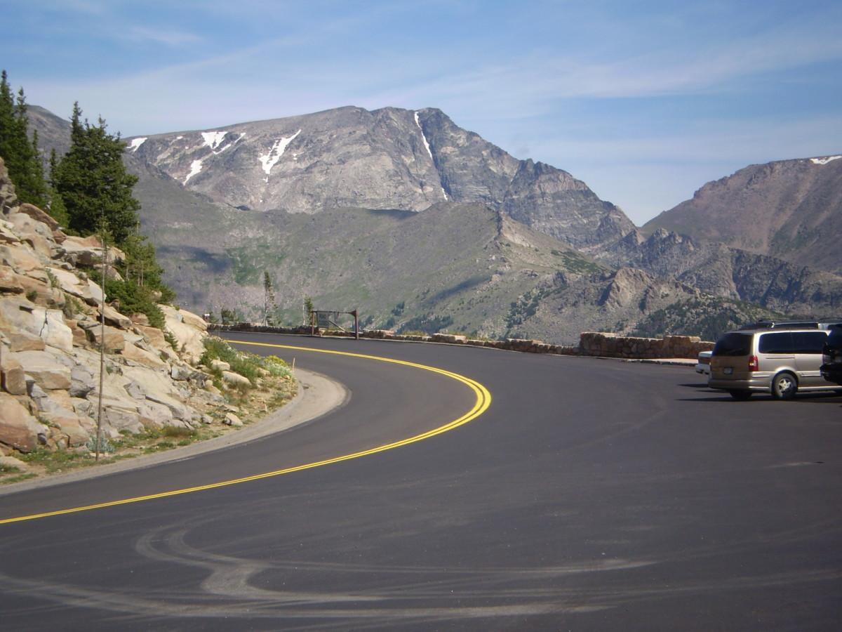 Ypsilon Mountain from Rainbow Curve, Trail Ridge Road.