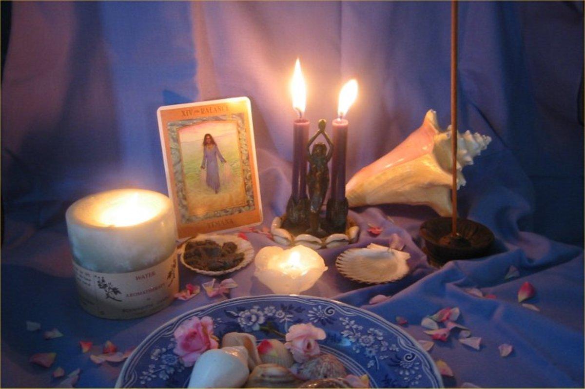 An altar to Yemaya