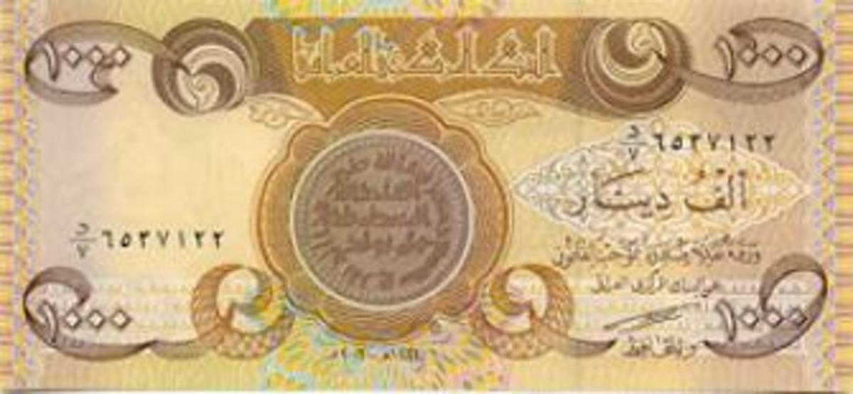 1000 Iraqi Dinar Note