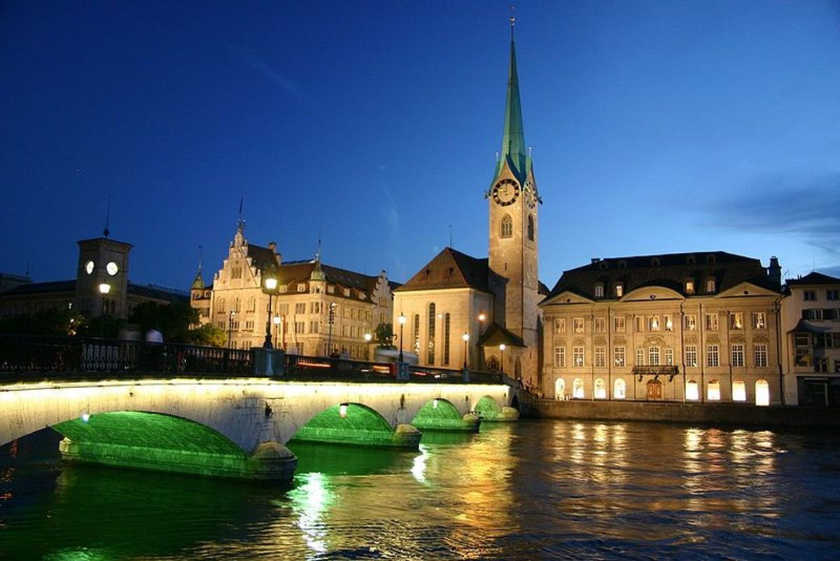 Zurich city in night