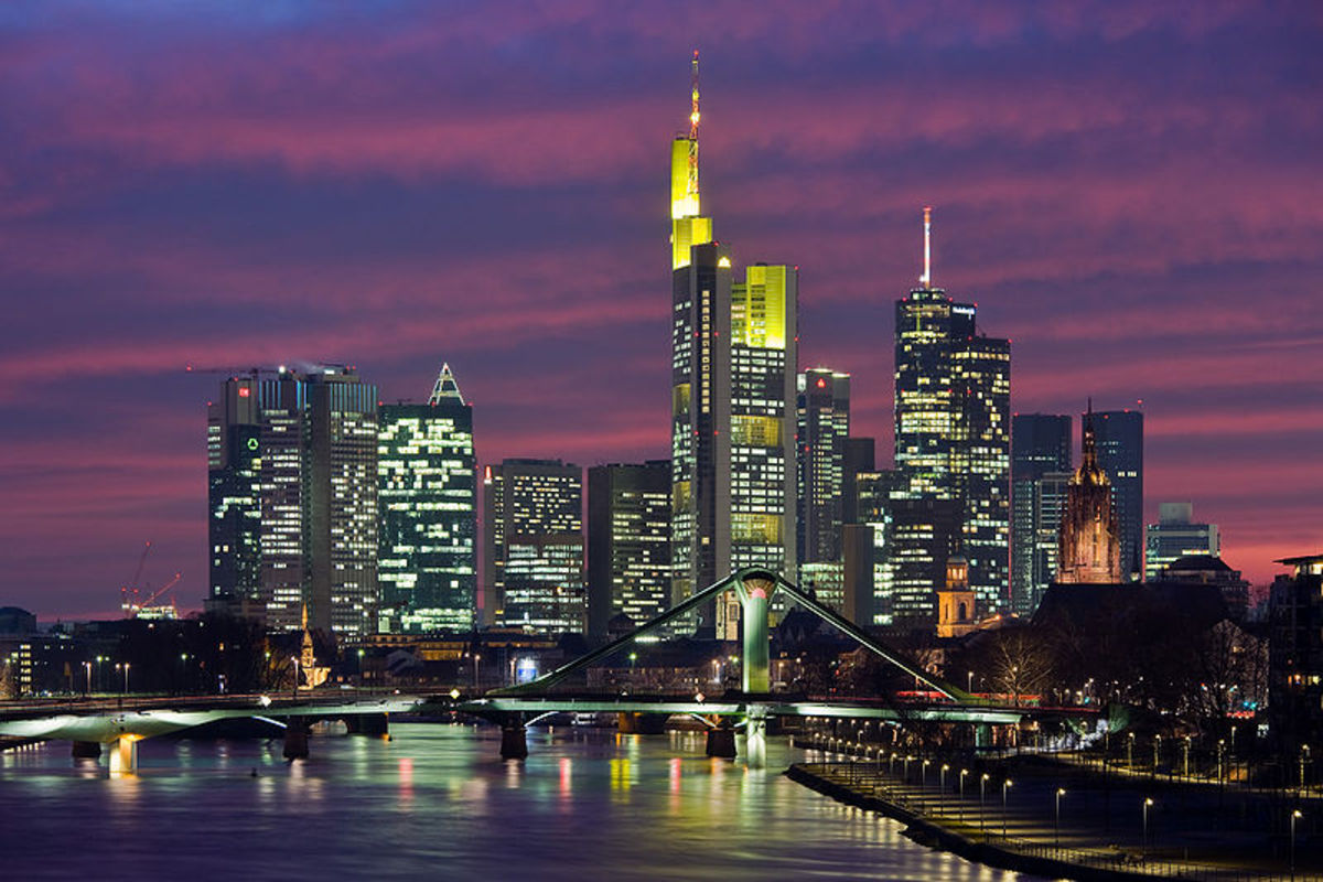 Frankfurt in night