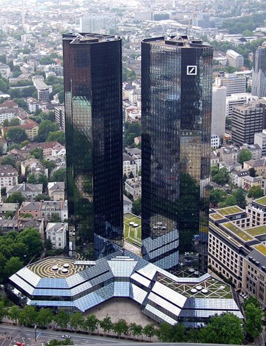 Twin towers of Deutsche-bank-Frankfurt
