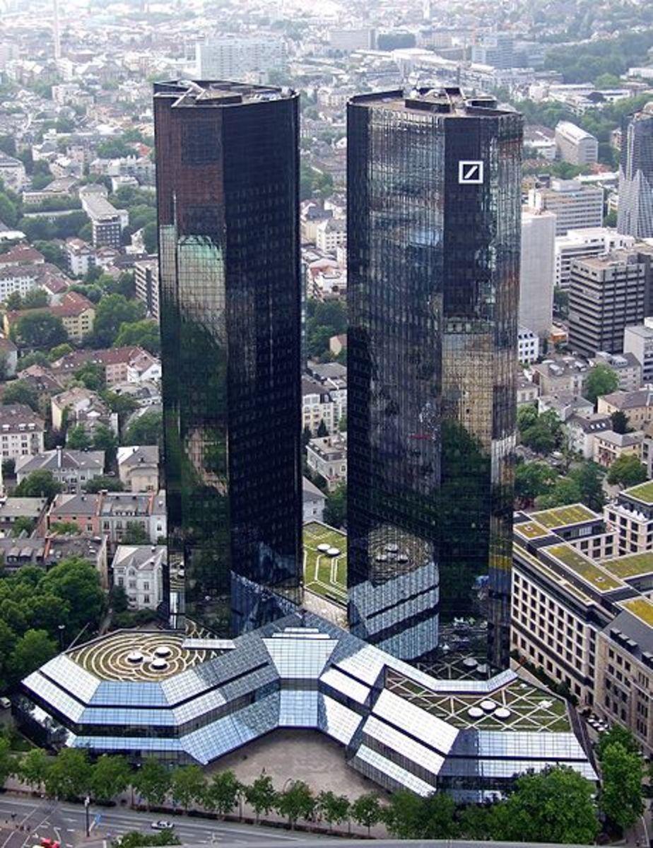 Twin towers of Deutsche-bank-Frankfurt