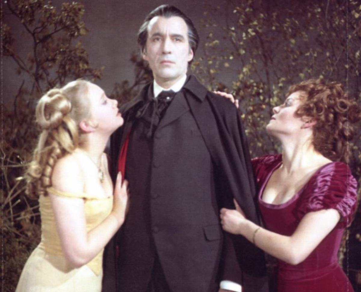 Christopher Lee was a regular babe magnet in his role as Count Dracula.