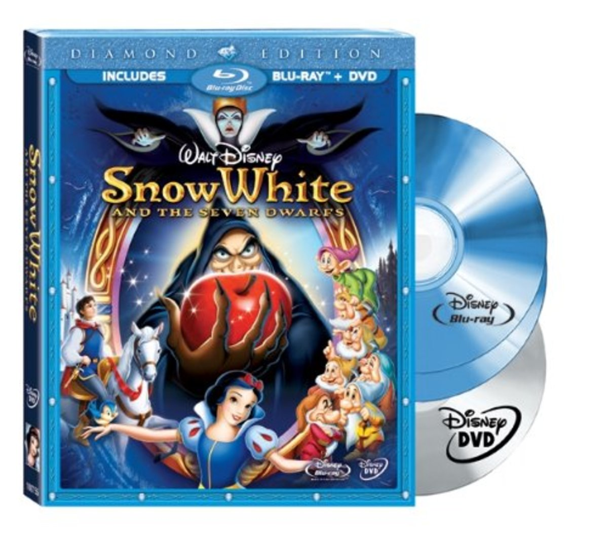 Snow White and the Seven Dwarfs Blu-ray and DVD