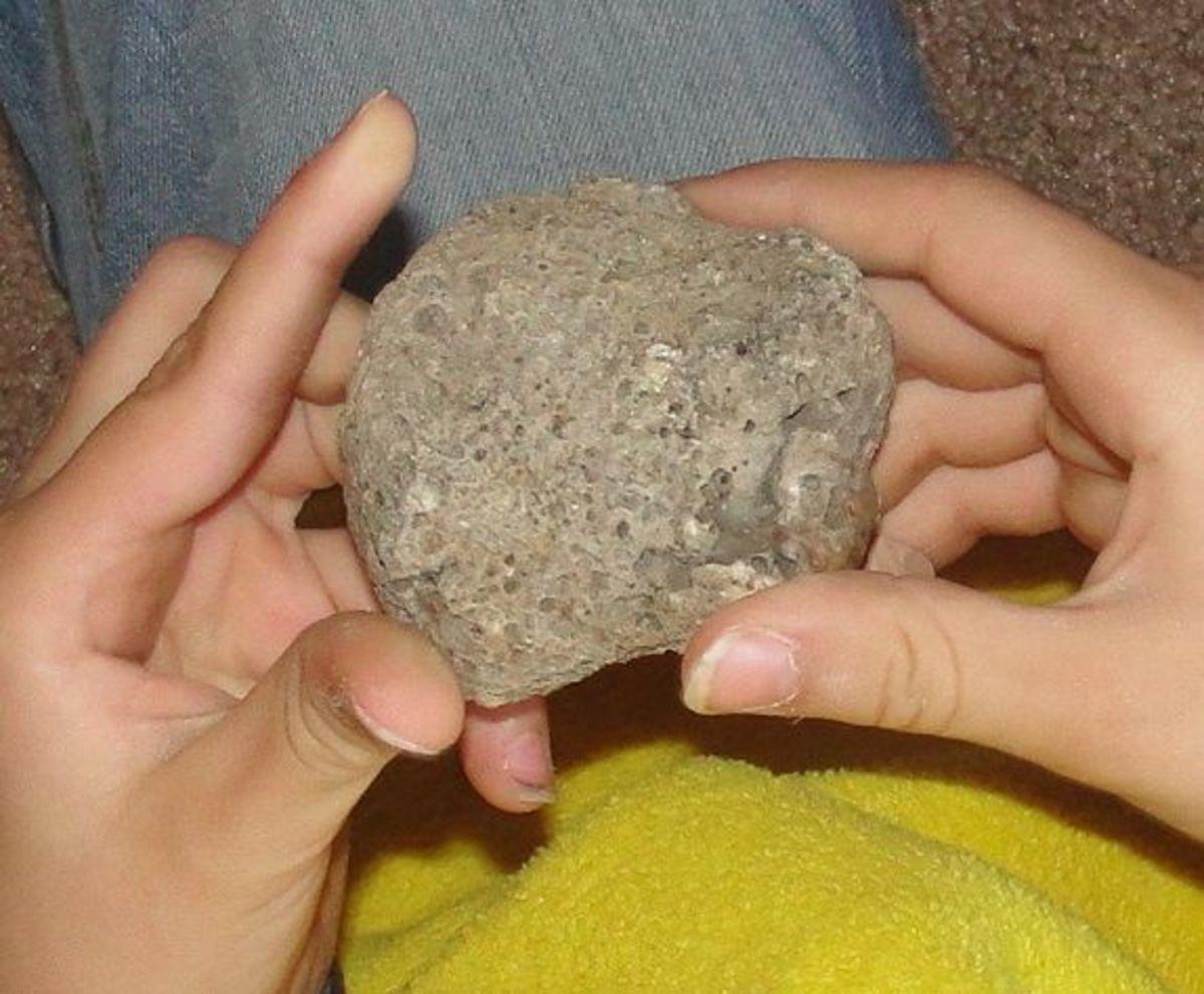 Looking at a moon rock