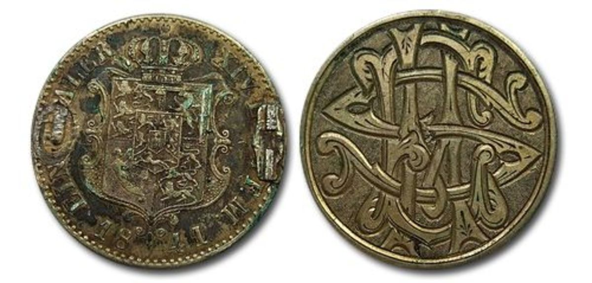 Love Token on a 1841 thaler