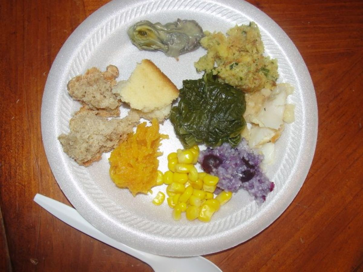 Our authentic Thanksgiving meal dishes
