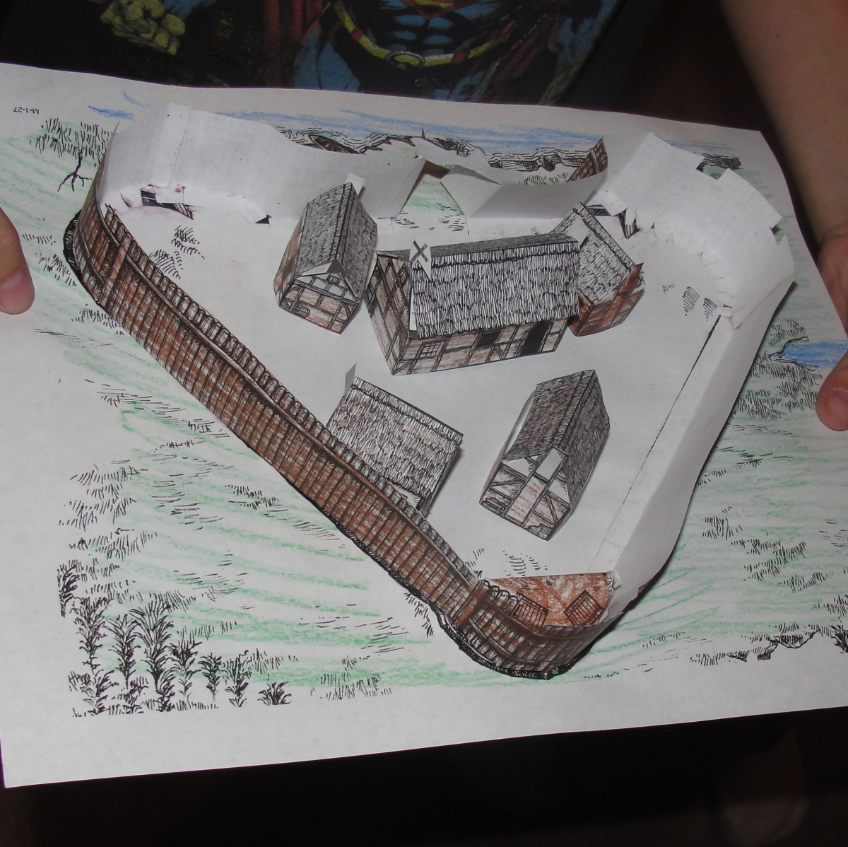 Jamestown Fort Replica that some of the children  did as their homework assignment