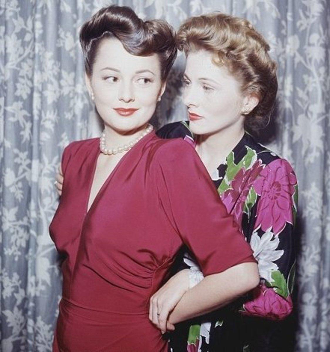!945, A rare closeness. Joan on the right.