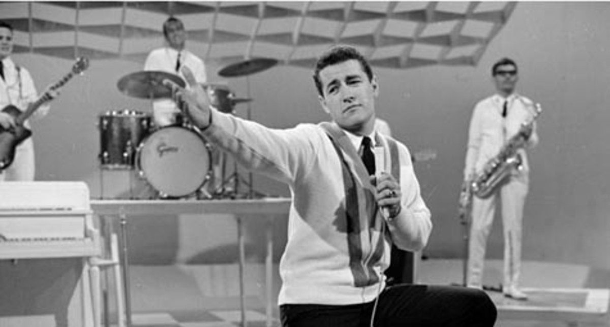 Alex Trebek in 1964 when he was host of CBC's Music Hop, a Canadian version of American Bandstand
