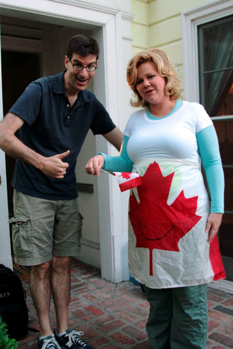 "Caroline Rhea appeared in the movie ""Being Canadian"""
