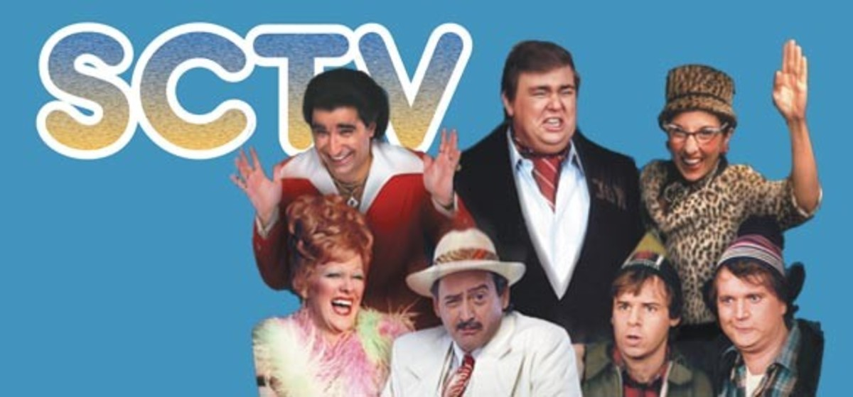 Eugene Levy, John Candy, Andrea Martin, Catherine O'Hara, Joe Flaherty, Rick Moranis and Dave Thomas were the cast of Canadian sketch comedy show SCTV