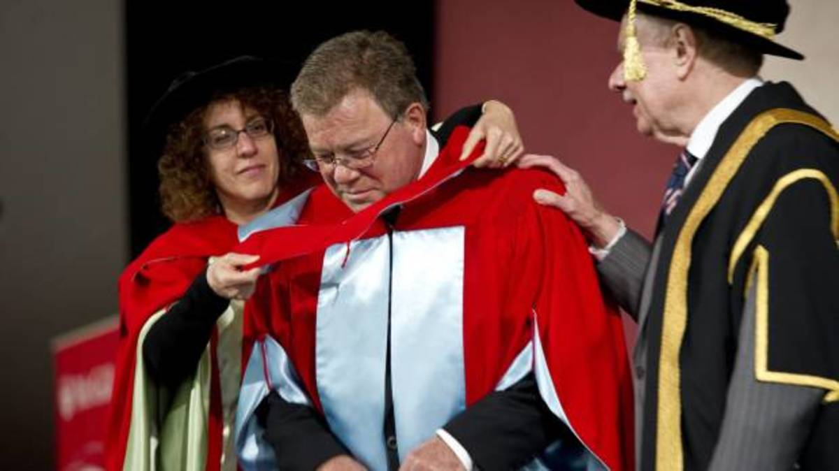 William Shatner received an honorary doctorate from his alma mater, McGill University