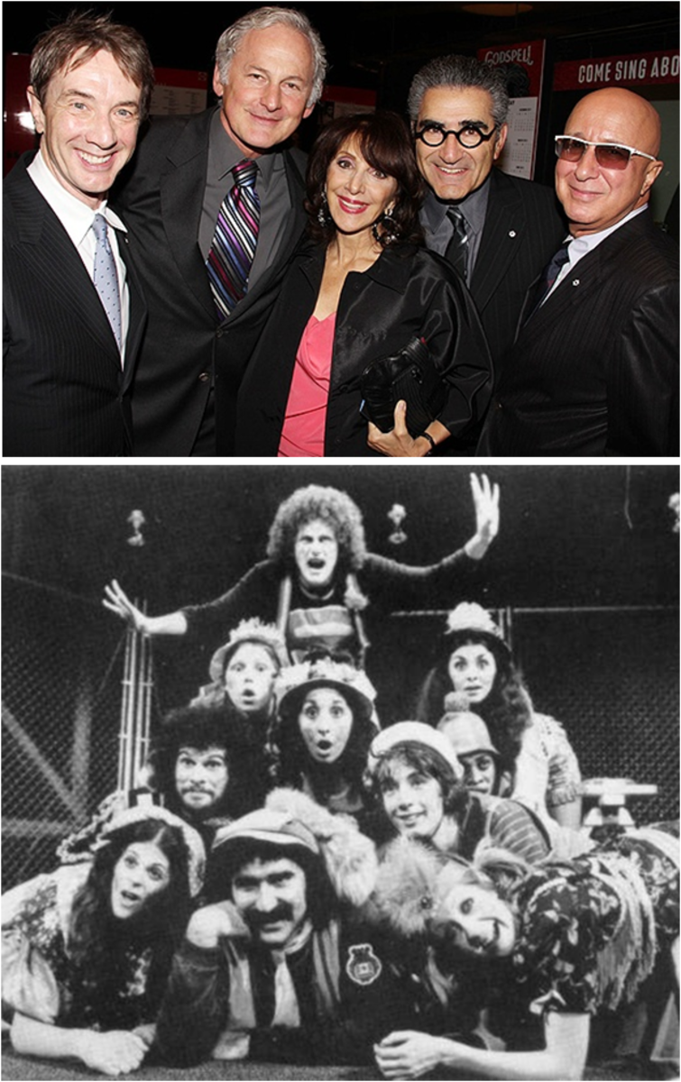 Martin Short, Victor Garber, Andrea Martin, Eugene Levy & Paul Shaffer : original Toronto cast of 'Godspell'