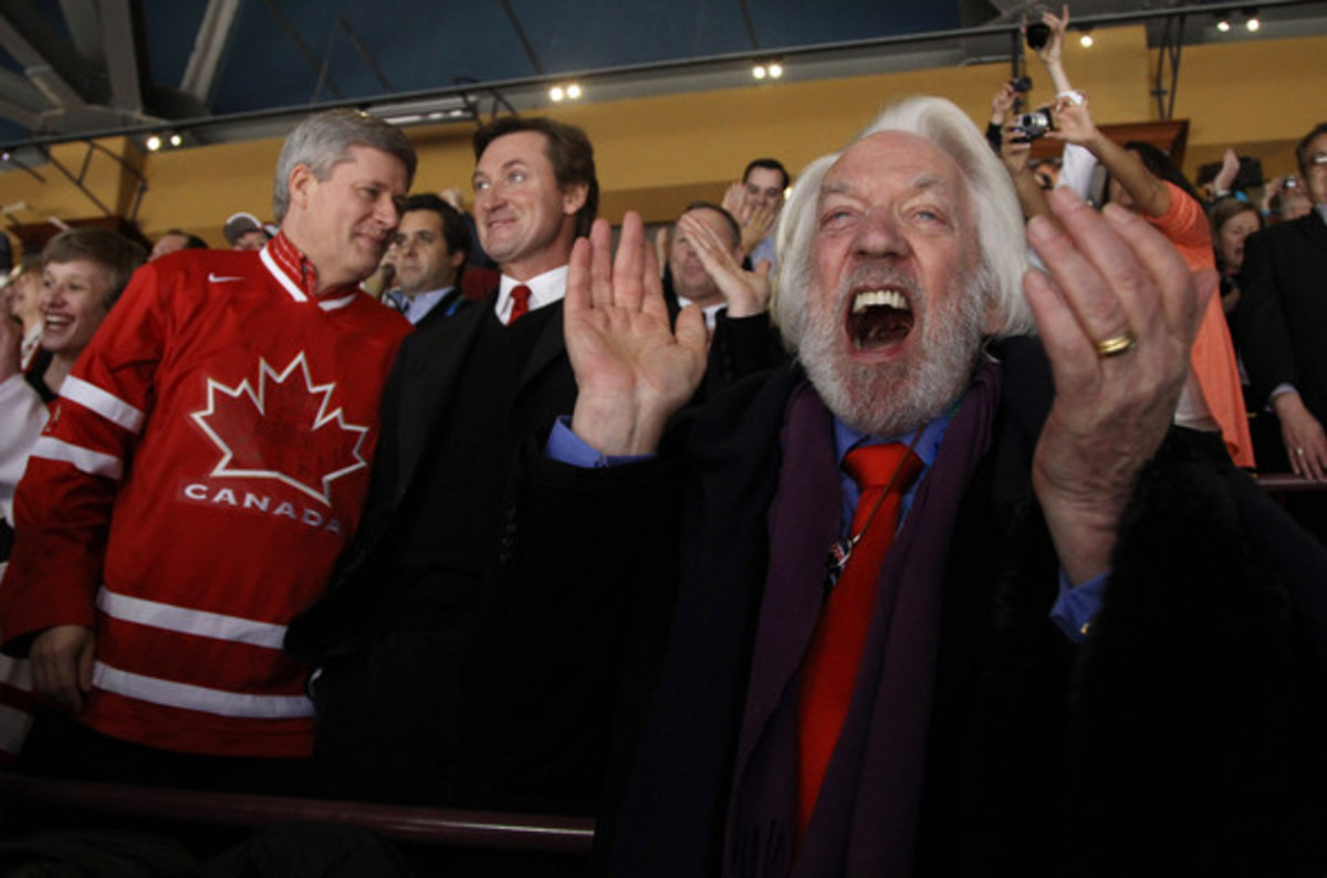 Donald Sutherland at the Winter Olympic Games in Vancouver