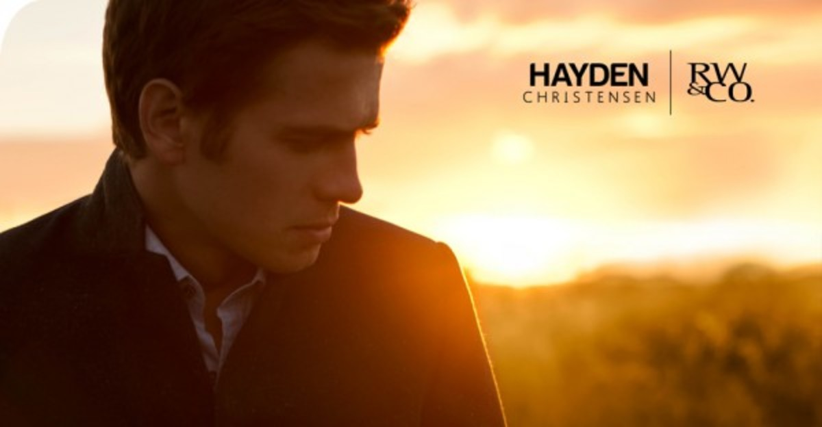 Hayden Christensen collaborated with Canadian fashion retailer RW & Co for a limited edition menswear collection