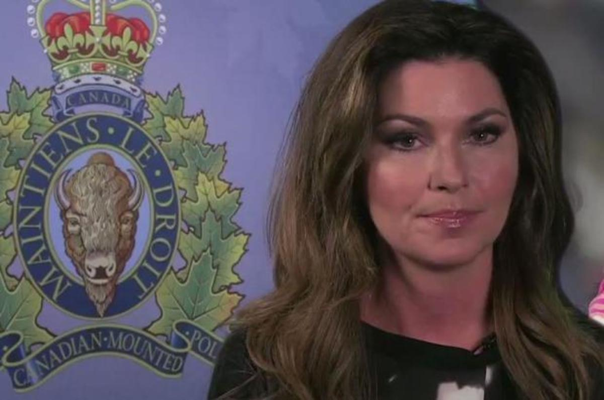 Shania Twain appeared in an RCMP public service announcement against family violence