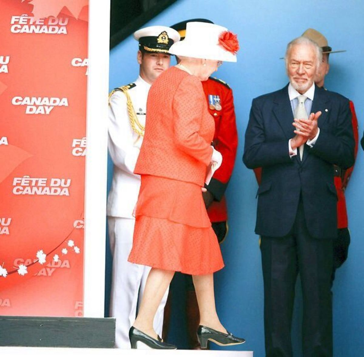 Christopher Plummer and Queen Elizabeth II on Canada Day (July 1, 2010) in Ottawa