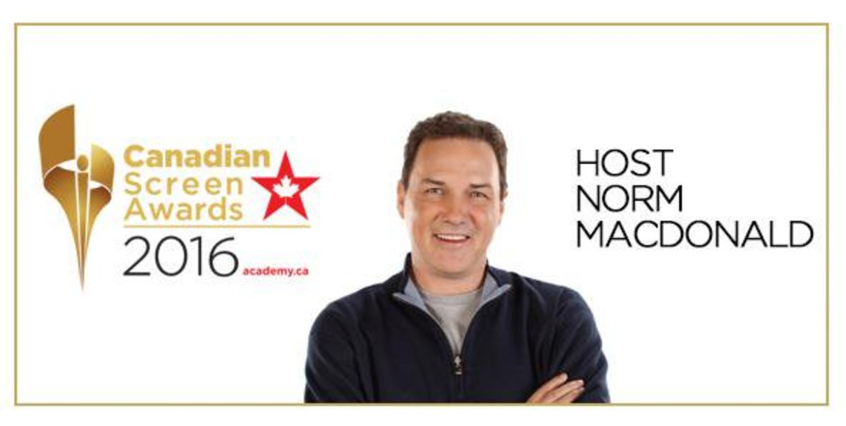 Norm MacDonald hosted the 2016 Canadian Screen Awards